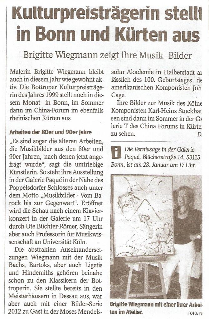 WAZ - Presseartikel Wiegmann