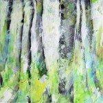 12-Frühling-läßt-sein-blaues-Band,-Mischtechnik-auf-Leinwand,-40x40cm