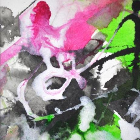 Dierker 15 Blütezeit 2, Aquarell, 10x10cm