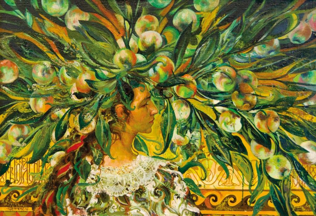 16.-Reznichenko-Aleksandr-(1968)---Flora----1997------55-x-80-cm----Öl-auf-Lwd_bearbeietet
