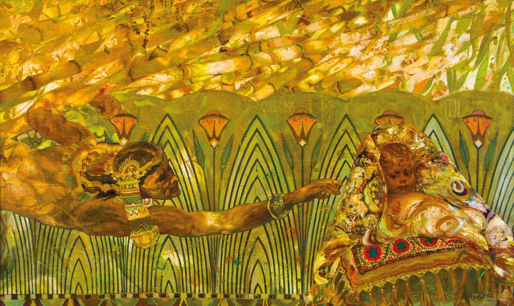 17.-Reznichenko-Aleksandr-(1968)---Rettung-des-Moses------1995------75-x-120-cm----Öl-auf-Lwd_bearbeitet