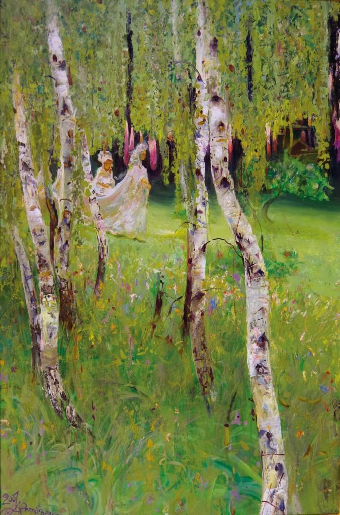 31.-Reznichenko-Aleksandr-(1968)---Spaziergang-der-Zarin----2001----60-x-90-cm----Öl-auf-Lwd-_IGP2815