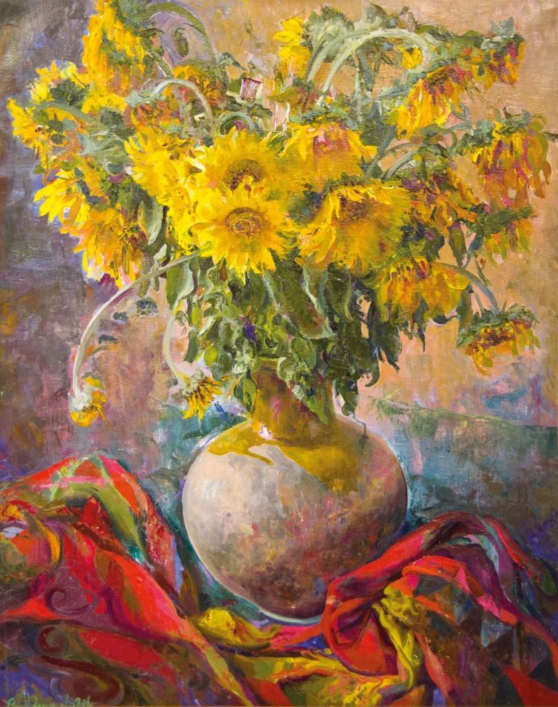 33.-Reznichenko-Aleksandr-(1968)---Sonnenblumen-----2001------80-x-100-cm----Öl-auf-Lwd_IGP2821
