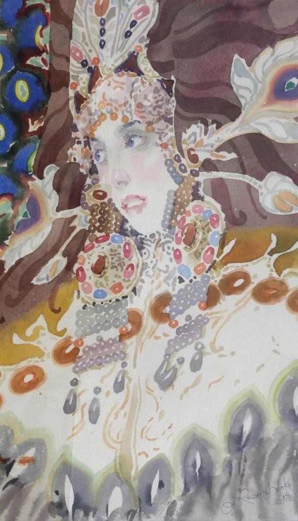 40.-Reznichenko-Alexander-(-1968-)----The-Swan-Princess----1998----22-x-37-cm---8-x-14-inch---Watercolour-version-2