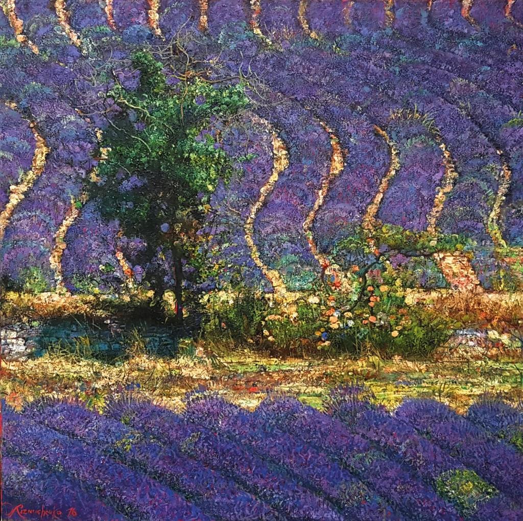 43.-Reznichenko-Aleksandr-(1968)--Lavendel---2016---100-x-100-cm----Öl-auf-Lwd