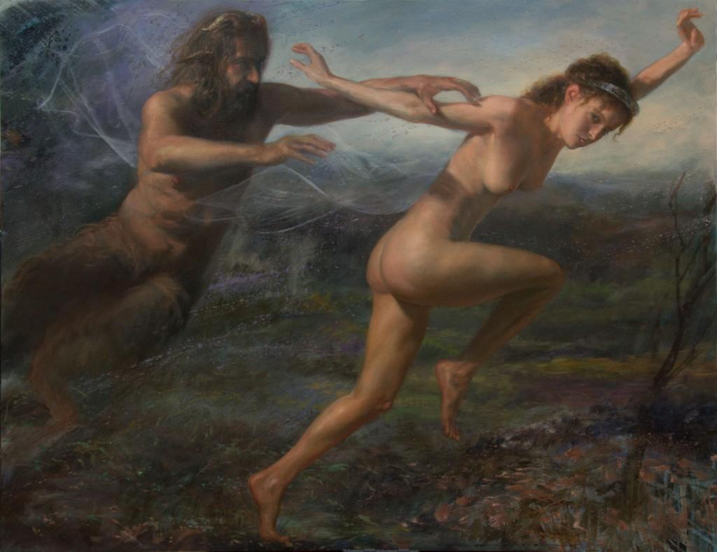 Alejandro DeCinti - 2016 - Metamorphose - Zeus-y-Antíope-2015-óleo-sobre-tela116-x-89-cm