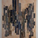 "Hommage an Joh. Seb. Bach: ""Fugale Komposition"" (1987), Tusch- Federzeichnung / Tempera / Collage; 45 x 35 cm"