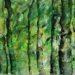 13-Klang-der-Bäume,-Mischtechnik-auf-Leinwand,-100x200cm