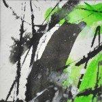 15 Erstes Grün 2, Aquarell, 10x10cm