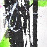 Dierker 15 Erstes Grün 3, Aquarell, 10x10cm