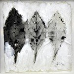 Dierker 19a-memento-mori-I,-Blattfrottage,-Schellack,-Tusche-auf-Glas,-20x20cm