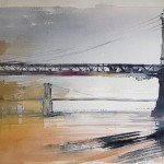 Kotzebue-Aquarell-BrooklynBridge-ManhattanCity-USA-55x75-1981