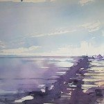 Kotzebue-Aquarell-PointBarrow-Alaska-USA-55x75-1986